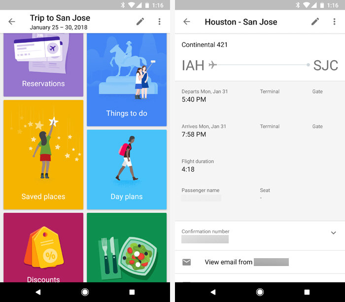 Android apps for organization - Google Trips