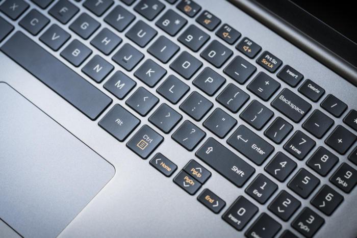 lg gram 15z980 keyboard detail