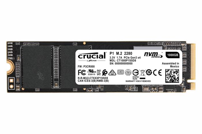 crucial p1 ssd flat image 1000gb