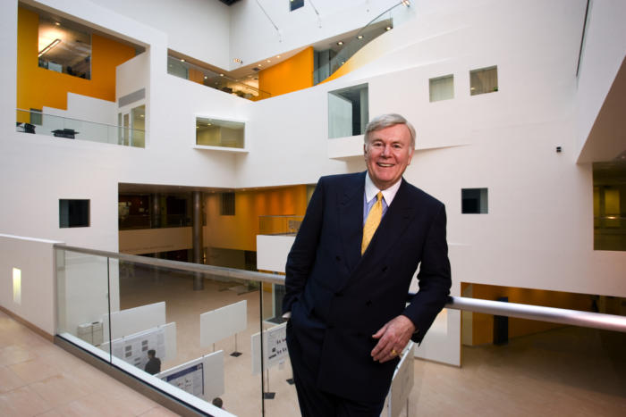 Patrick McGovern, interior shot at the McGovern Institute for Brain Research [MIBR] at MIT