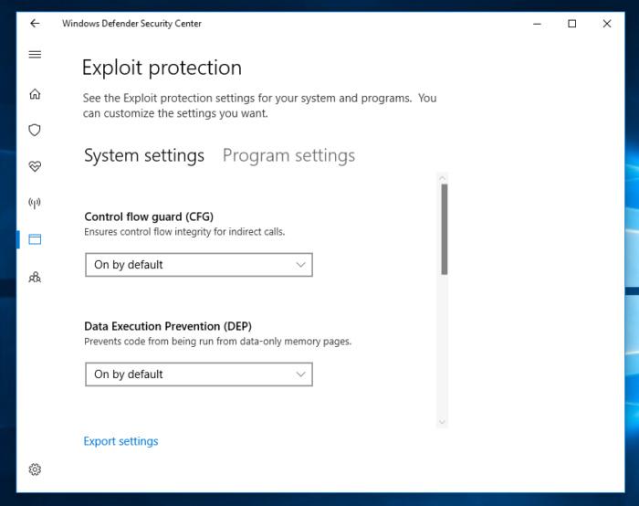 Exploit guard windows 10 fall creator 3