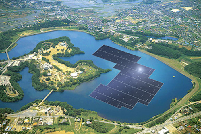 Kyocera floating solar panels floatvoltaics