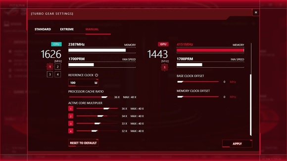 Asus ROG G752VS-XB72K Game Center