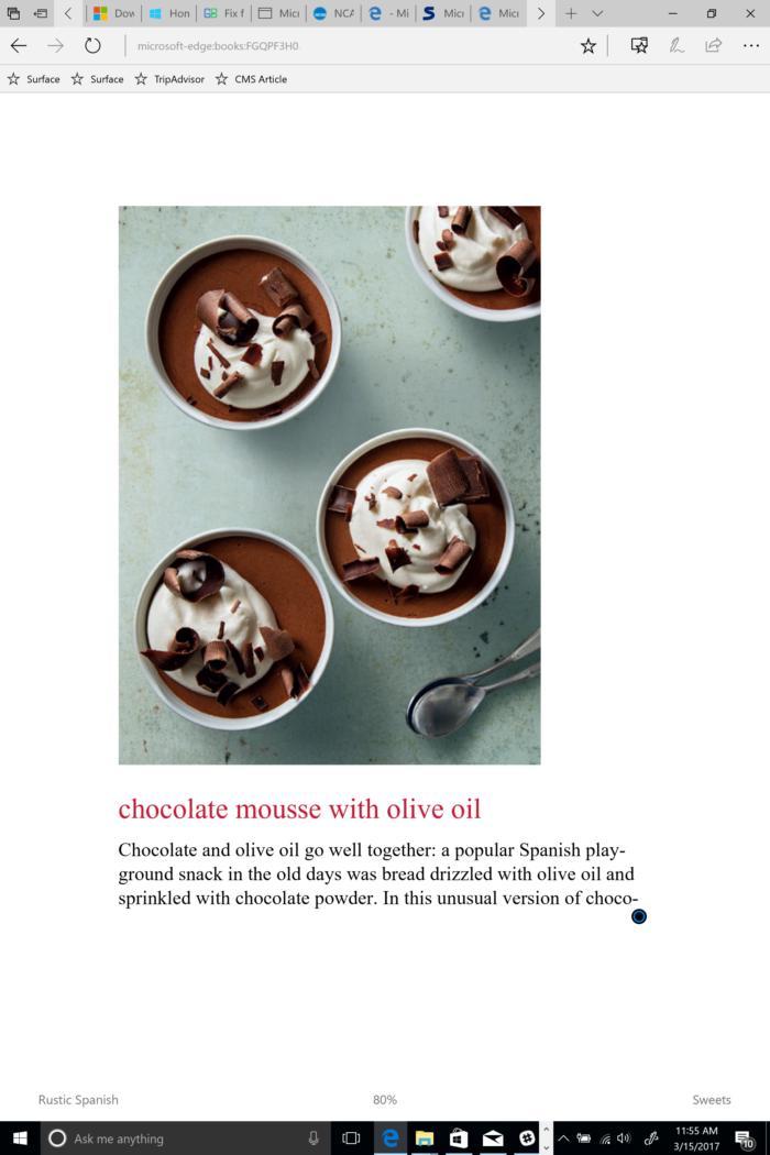 microsoft edge ebooks recipes