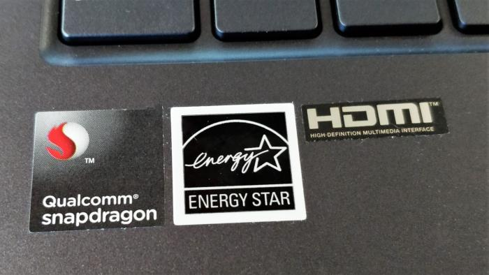 Asus NovaGo snapdragon sticker
