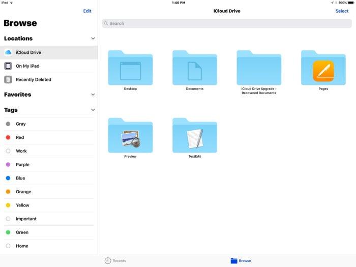 Files in iOS 11