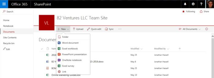 SharePoint Online - new menu