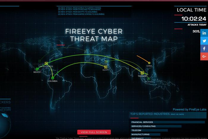 fireeye cyber attack maps