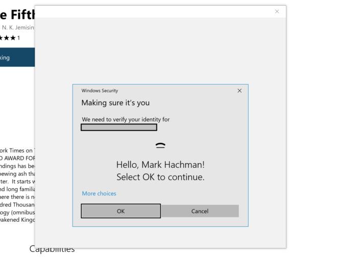 edge purchase using windows hello edit