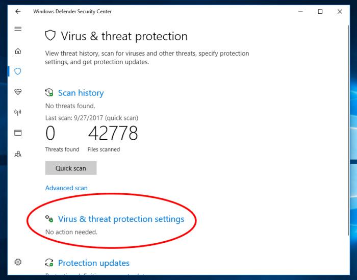 Protected folders Windows 10 fall creators 2