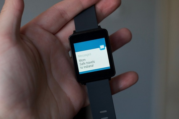 android wear iphone text