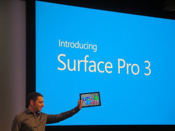 Microsoft Surface Pro 3 shown on stage