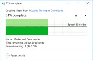 Asus ZenBook 3 Data Transfer screenshot