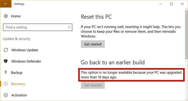 windows 10 days