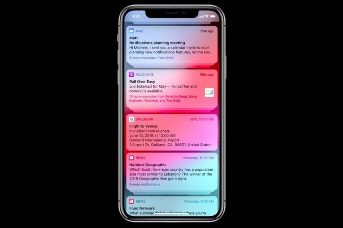 Grouped Notifications in iOS 12