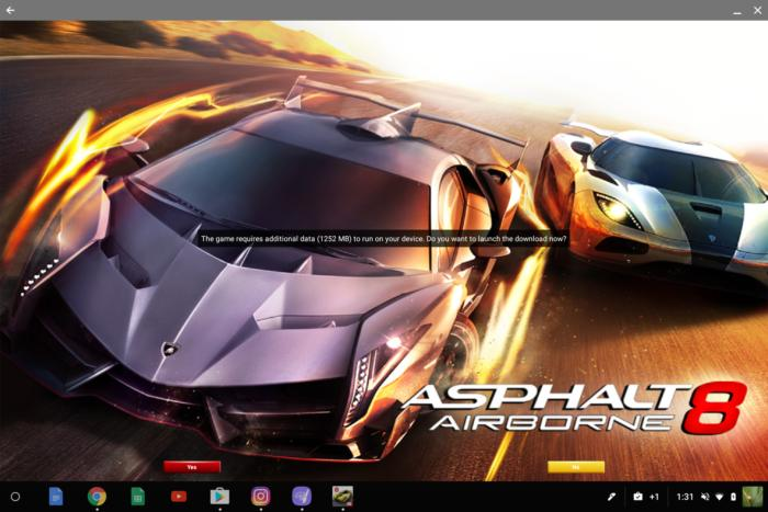 android apps chromebook asphalt 8 data