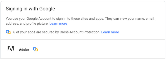Google Cross Account Protection