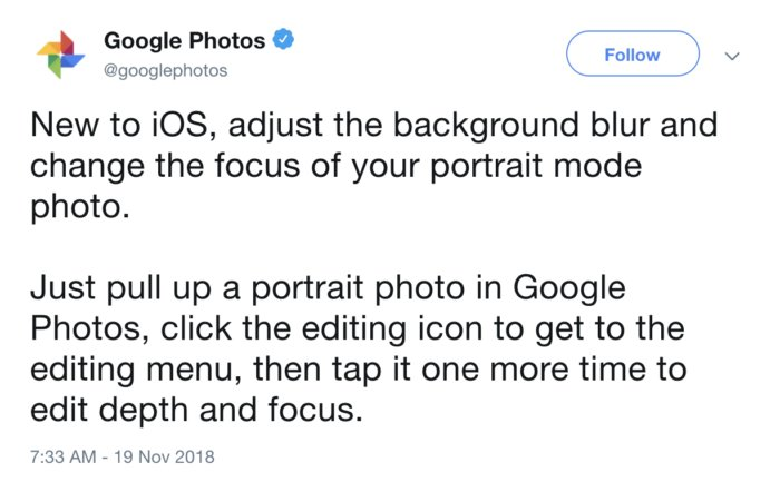 google photos tweet