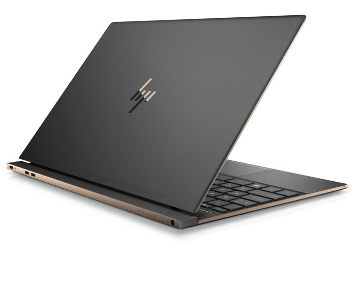hp spectre 13 laptop rear quarter right dark ash silver
