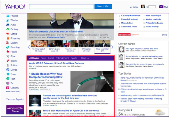 Yahoo News Feed