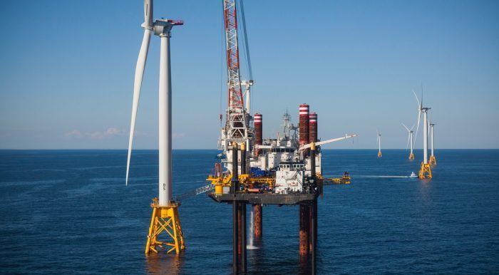 Deepwater Wind wind turbine Block Island