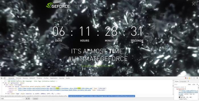 gtx 1080 countdown