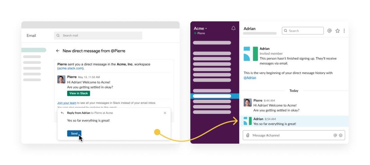 Slack email bridge