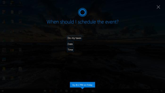 cortana full screen