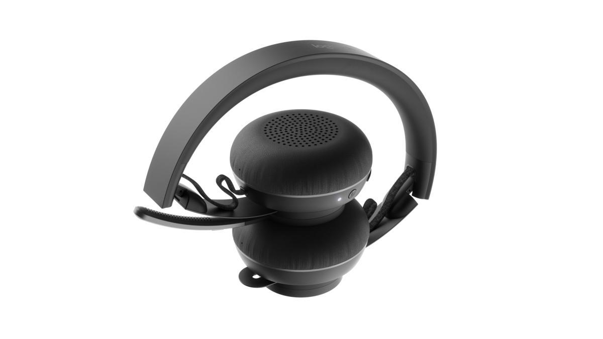 logitech zone wireless headset folded