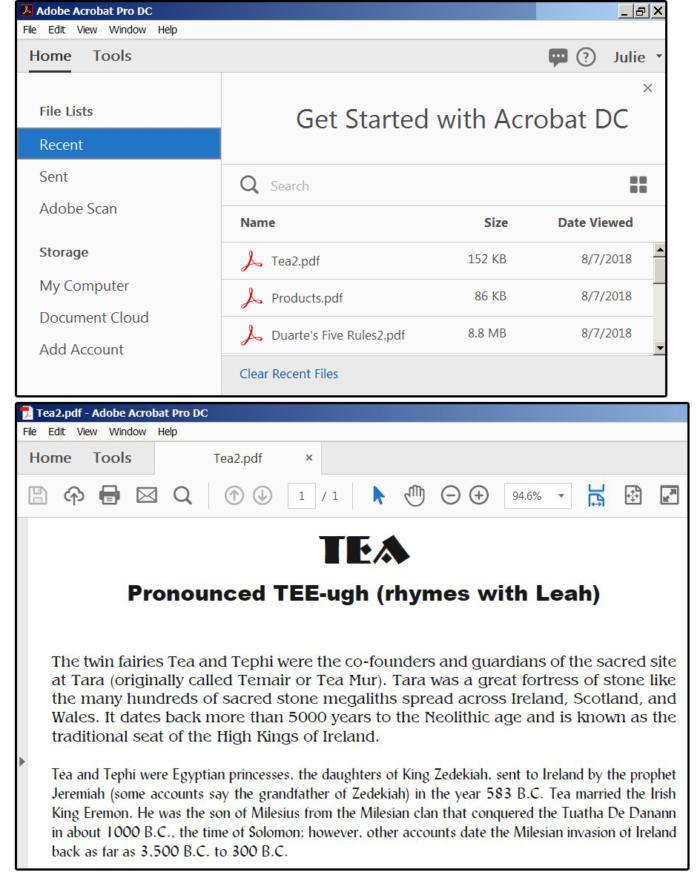 09b open acrobat and a pdf file