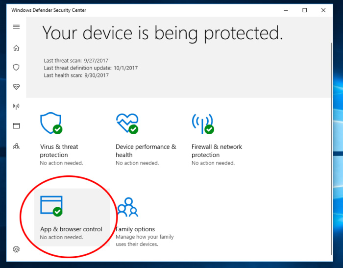 Exploit Guard Windows 10 fall creator 1