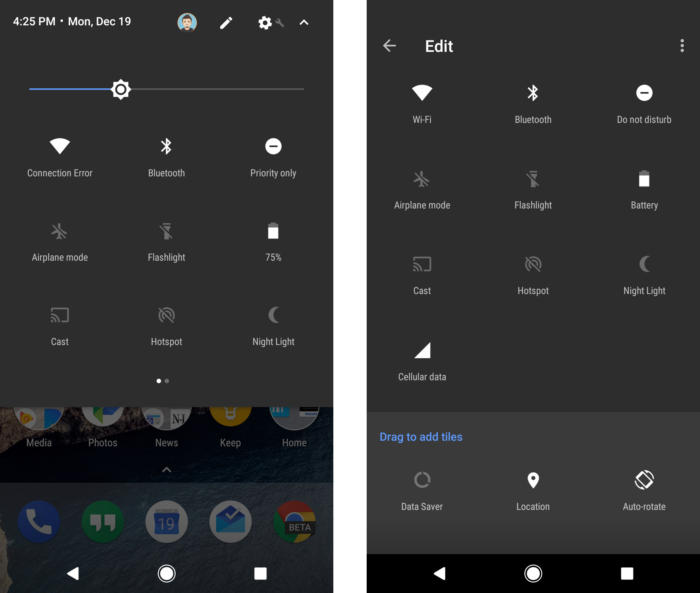 12 android nougat quick settings edit