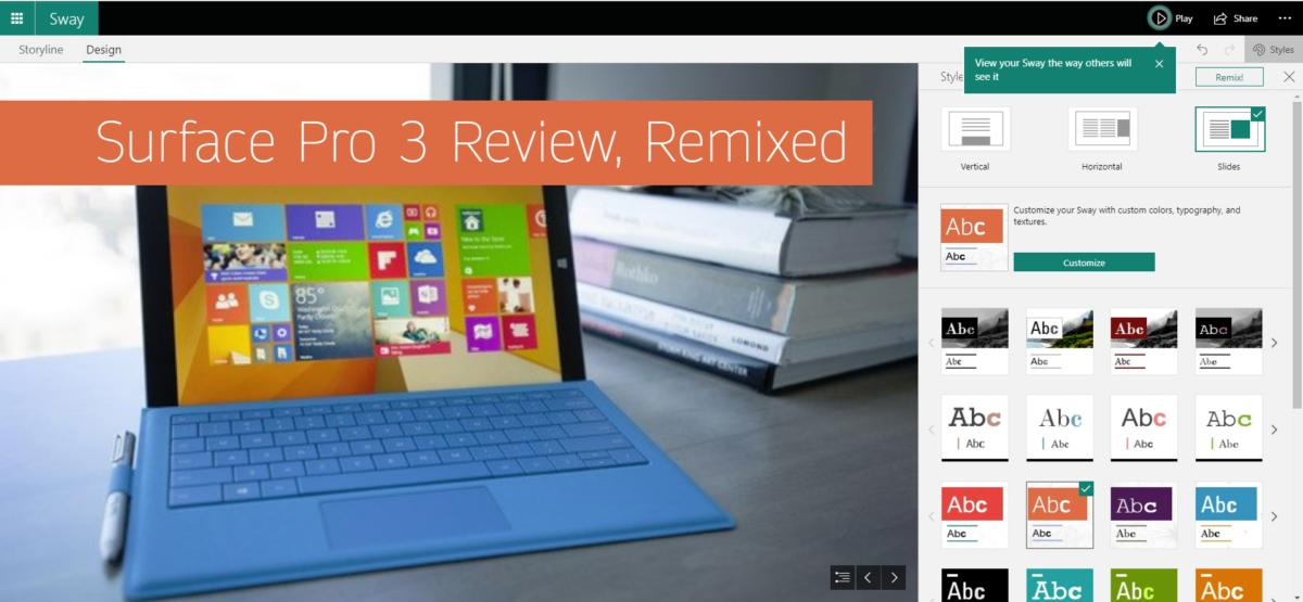 surface pro 3 review Microsoft sway