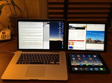three screens