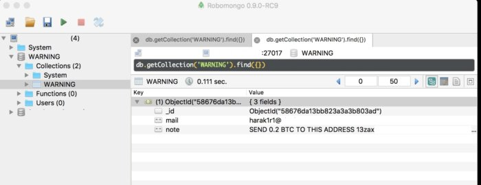 MongoDB install held for ransom