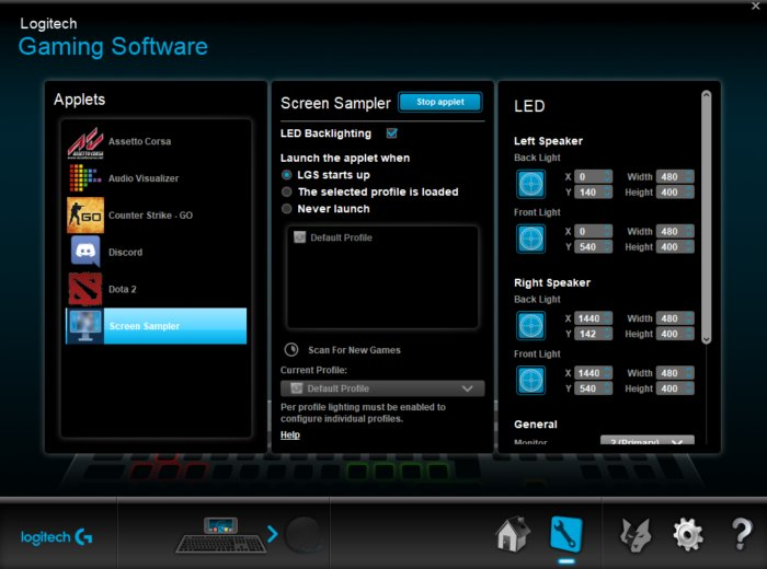 Logitech G560 Software
