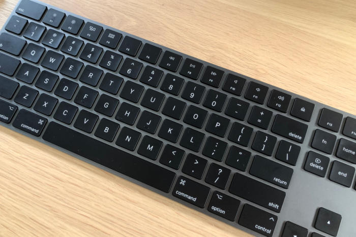 imac pro space gray keyboard