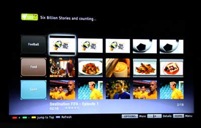 Sony Bravia Internet Video - SBS channel