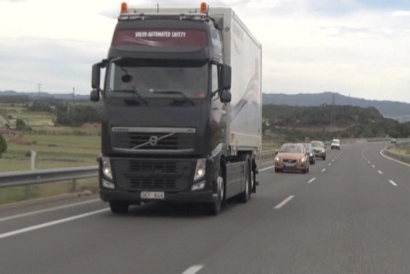 Volvo truck road train
