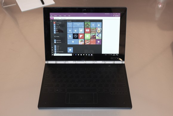 lenovo yoga book windows front
