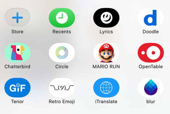 ios 10 imessage apps drawer