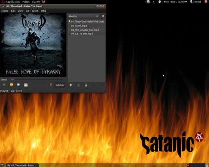 Ubuntu Linux Satanic Edition
