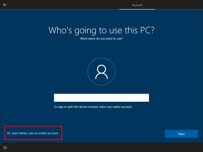 Windows 10 out of the box experience