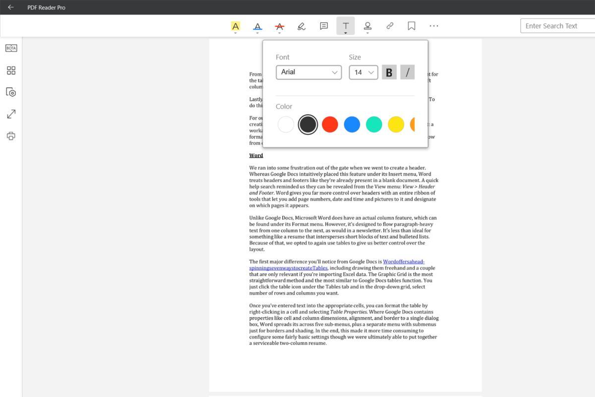 pdf reader pro text