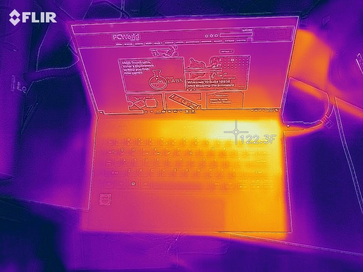 Acer Swift 7 July 2019 flir heat thermal