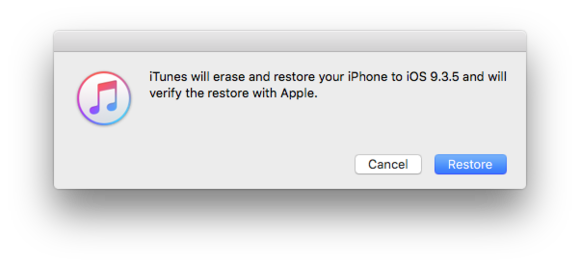 iphone ios9 restore