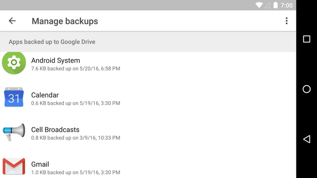 android n missing features backups