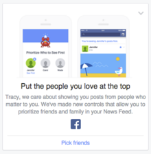facebook newsfeed priority
