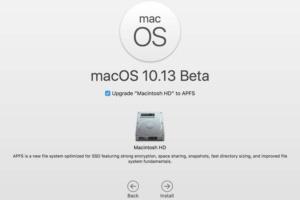 macos high sierra beta installation screen