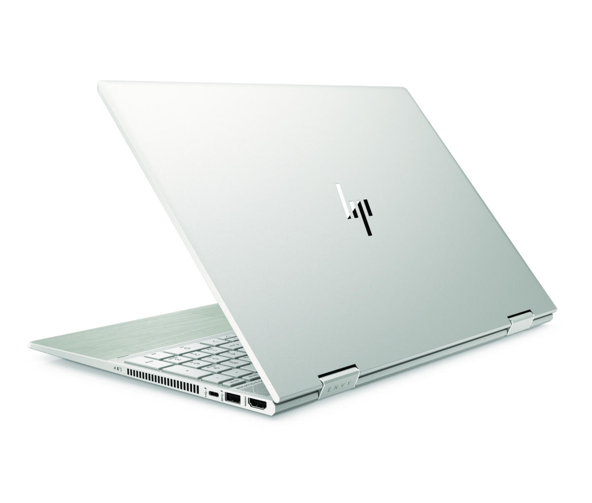 hp envy x360 15 in natural silver pale birch rear left